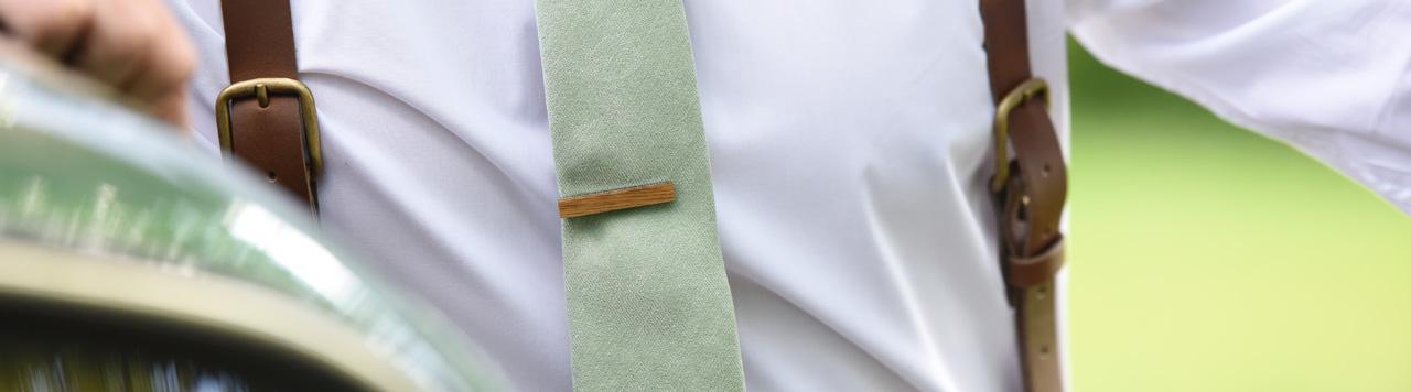 Krawattennadeln  beige