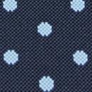Blaue Hosenträger mit hellblauen Polkadots