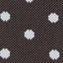 Braune Hosenträger mit weißen Polka Dots