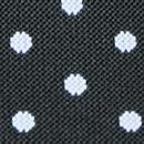 Schwarze Hosenträger mit weißen Polka Dots