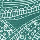 Sir Redman Luxuriöse Hosenträger Paisley Sketch grün