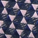 Fliege Triangle Trip Blau  Rosa