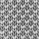 Fliege gestrickt Grau