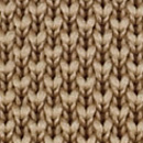 Sandfarbene Strickkrawatte