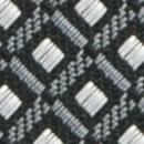 Krawatte Muster Grau Weiß