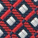 Krawatte Muster Navy Rot