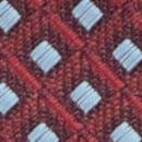 Krawatte Muster Aubergine Hellblau