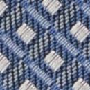 Krawatte Muster Denimblau Weiß
