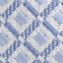 Krawatte Muster Weiß Hellblau