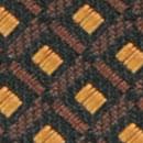 Krawatte Muster Schwarz Ocker