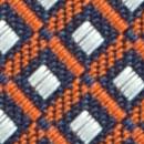 Krawatte Muster Orange Weiß