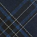 Krawatte Baumwolle Kariert Blau