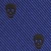 Mini-Krawatte Schlüsselanhänger Skulls Blau