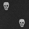 Mini-Krawatte Schlüsselanhänger Skulls Schwarz