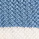 Strickkrawatte hellblau mit Streifen
